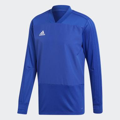 Haut d'entraînement Condivo 18 Player Focus Bleu Hommes Fitness Et Training