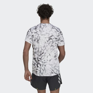 T-shirt adidas Fast Graphic Primeblue Gris Hommes Running