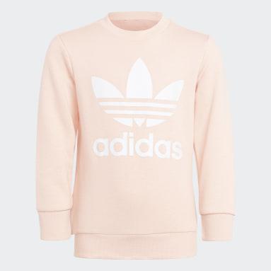 розовый Комплект: свитшот и брюки Adicolor