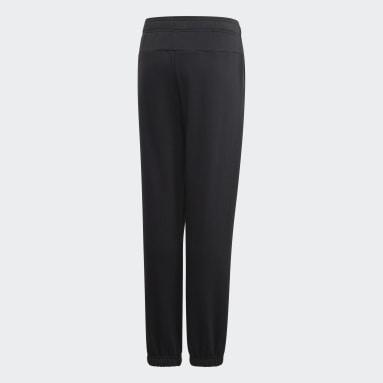 Boys Yoga Black Essentials Linear Pants