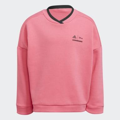 Girls Training Pink Disney Comfy Princesses Crew Sweatshirt
