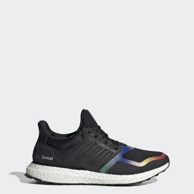 Women Running Black Ultraboost DNA Shoes