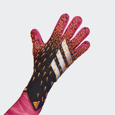 Football Black Predator Pro Goalkeeper Gloves