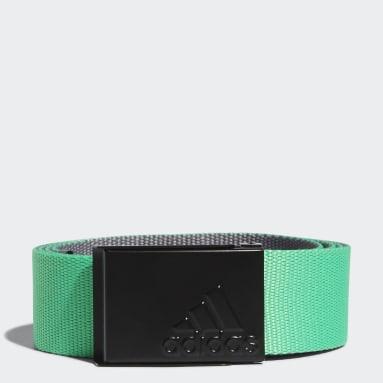 Men Golf Green Reversible Web Belt