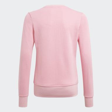Blusa Moletom Essentials Rosa Meninas Training