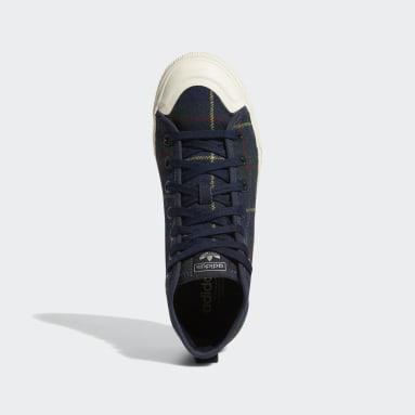 Women Originals Blue Nizza RF Platform Mid Shoes