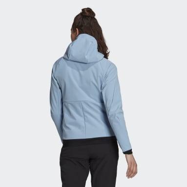 Frauen TERREX TERREX Ultimate Hooded Fleecejacke Blau