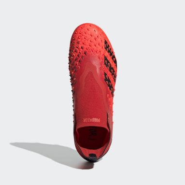 Bota de fútbol Predator Freak+ césped natural seco Rojo Niño Fútbol