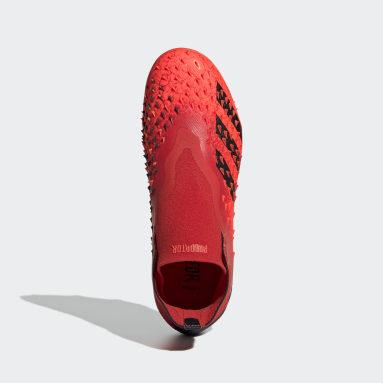 Boys Football Red Predator Freak+ Firm Ground Boots