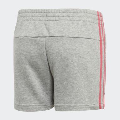 Pantalón corto Essentials 3 bandas Gris Niña Sportswear