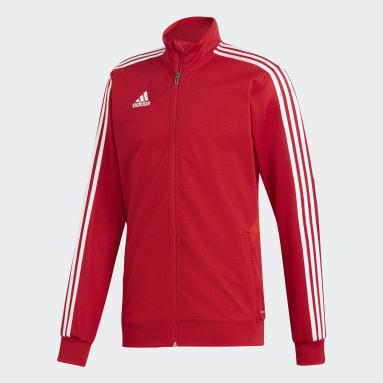 Mænd Fitness Og Træning Rød Tiro 19 træningsjakke