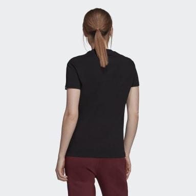 T-shirt Foil Box Graphic noir Femmes Sport Inspired