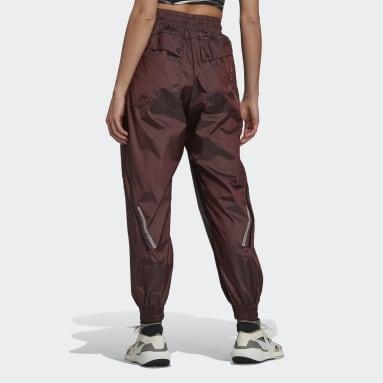 Women adidas by Stella McCartney Pink adidas by Stella McCartney Shiny Woven Track Pants