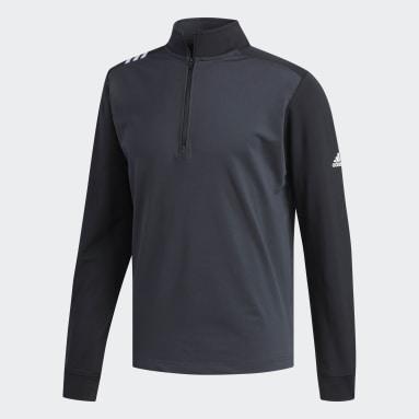 Männer Golf 3-Streifen Core 1/4 Zip Sweatshirt Grau