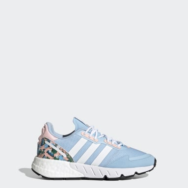 Youth Originals Blue ZX 1K Boost Shoes