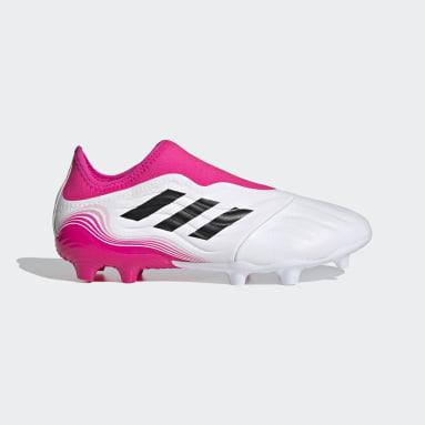 Chaussure Copa Sense.3 Laceless Terrain souple Blanc Football