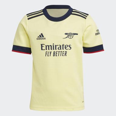 Children Soccer Yellow Arsenal 21/22 Away Mini Kit