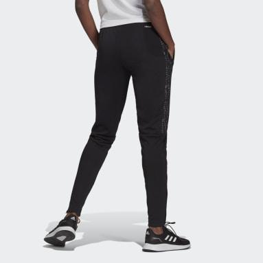 Pants Ajustados AEROREADY Sereno Cut 3 Franjas Pierna Cónica Negro Mujer Fútbol