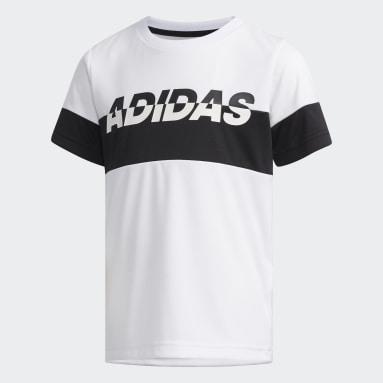 Kids 4-8 Years Gym & Training White Graphic T-Shirt