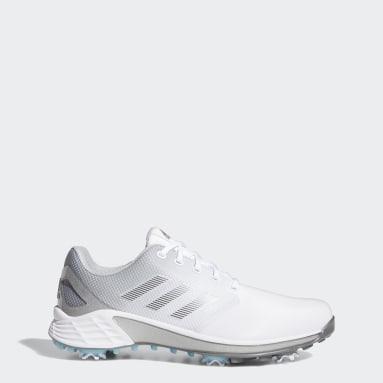 ผู้ชาย กอล์ฟ สีขาว รองเท้ากอล์ฟหน้ากว้าง ZG21