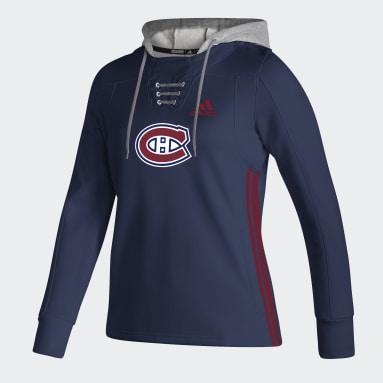 Women Hockey Blue CANADIENS SKATELACE HOODY