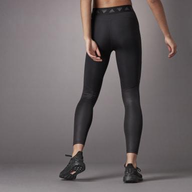 ผู้หญิง เทรนนิง สีดำ กางเกงรัดรูปขายาวเอวสูง Hyperglam
