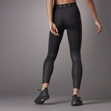 Women's Training Black Hyperglam High-Rise Long Tights