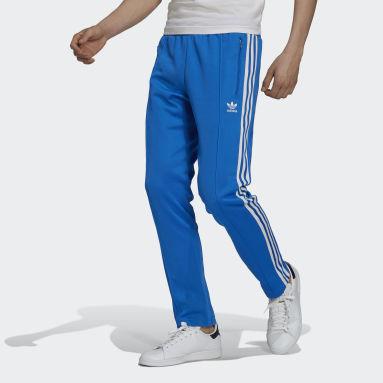 Men Originals Blue Adicolor Classics Beckenbauer Primeblue Tracksuit Bottoms