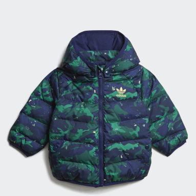 Boys Originals Blå Camo Print Down Jacket