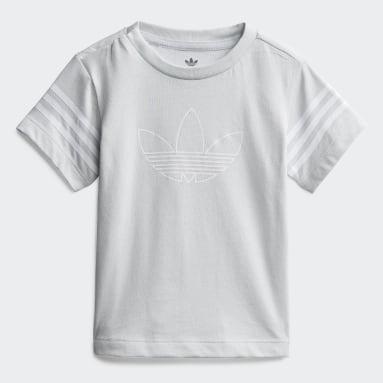 Kids Originals Grey Outline Shorts Tee Set