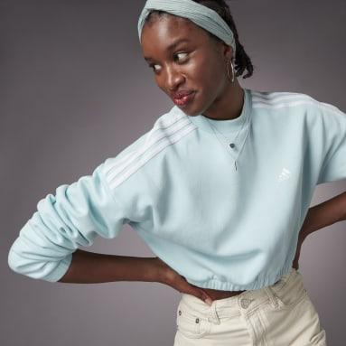 Sweat-shirt Hyperglam Crop Crew Vert Femmes Sportswear