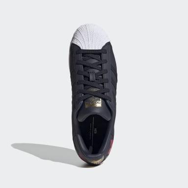 Women's Originals Blue Superstar Shoes
