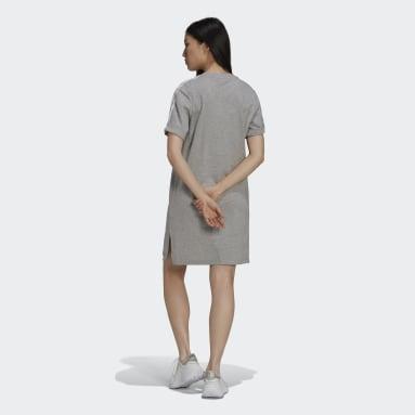 Kvinder Originals Grå Adicolor Classics Roll-Up Sleeve T-shirt-kjole