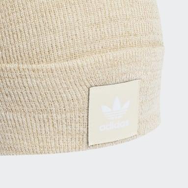 Bonnet Adicolor Cuff Knit Glitter Blanc Originals