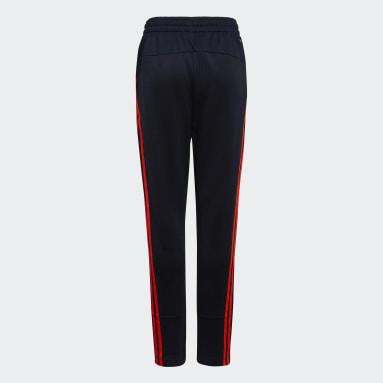 Boys Training Blue AEROREADY Primegreen 3-Stripes Tapered Pants