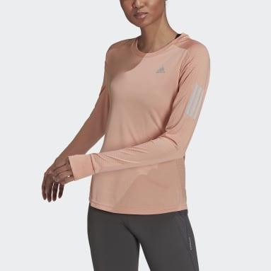 Women Running Pink Own the Run Long-Sleeve Top