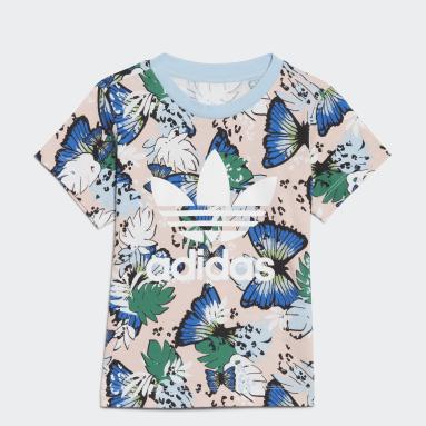 Camiseta HER Studio London Animal Flower Print Rosa Niña Originals
