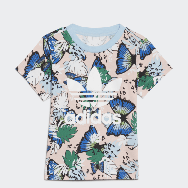 Girls Originals Pink HER Studio London Animal Flower Print T-shirt