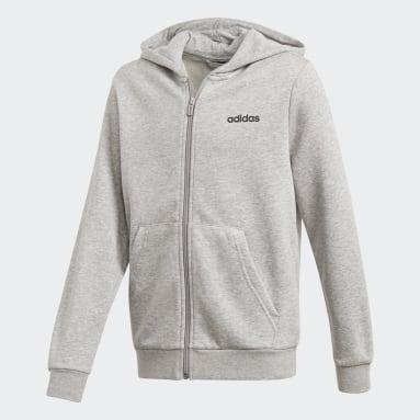 Chaqueta con capucha Essentials Linear Gris Niño Sportswear