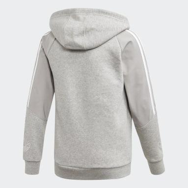 Børn Originals Grå Outline hoodie