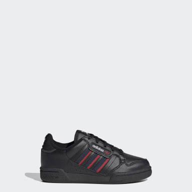 Kids 4-8 Years Originals Black Continental 80 Stripes Shoes