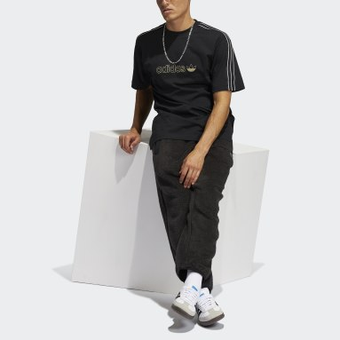 Men Originals Black adidas SPRT Shadow 3-Stripes T-Shirt