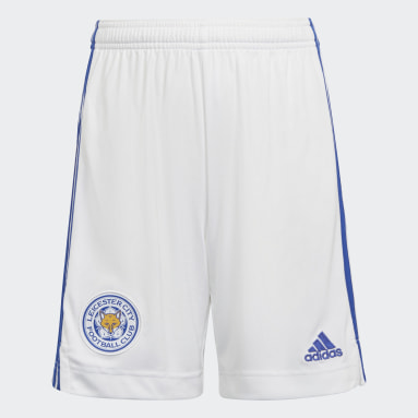 Kids 4-8 Years Football White Leicester City FC 21/22 Home Shorts