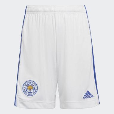 Short Domicile Leicester City FC 21/22 Blanc Enfants Football