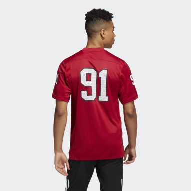 Men's Football Red Indiana For Coach Bill Mallory Jersey