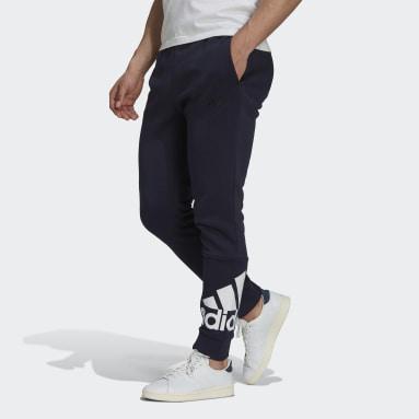 Men's Essentials Blue Essentials Fleece Tapered Cuff Logo Pants