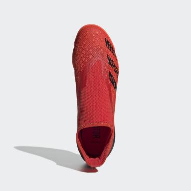 красный Футбольные бутсы (футзалки) Predator Freak.3 Laceless IN