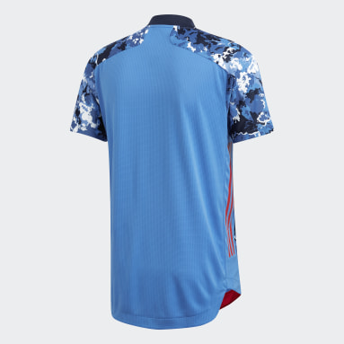 Men Football Blue Japan Home Authentic Jersey