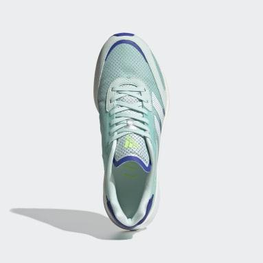 Tenis Adizero Boston 10 Verde Mujer Running