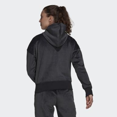 Kvinder Sportswear Grå adidas Sportswear Future Icons Corduroy hættetrøje